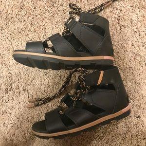 Sorel Torpeda Lace II Sandals Black 7.5